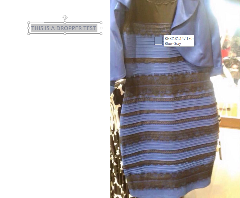 Dress white and gold optical illusion