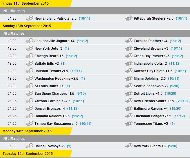 point spread steelers ravens nfl betting lines week 8