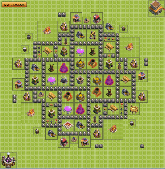 clash of clans bases with bomb tower