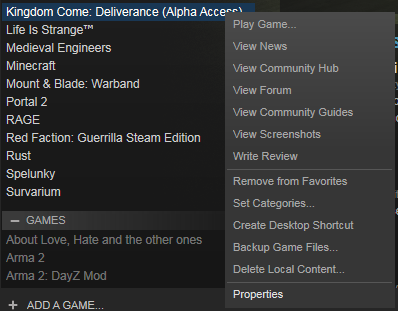 how to delete game data on steam