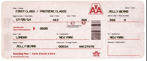 make a novelty airline ticket for fun hotukdeals
