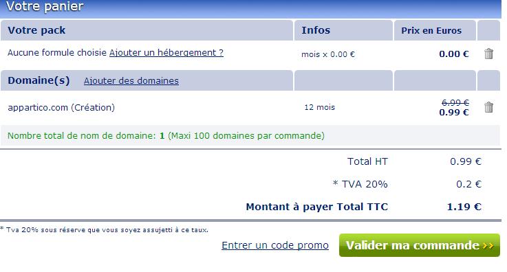 como comprar dominios por un euro