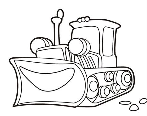 Картинки раскраски трактор том
