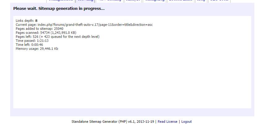my sitemap generator is very slow sitemap generator forum