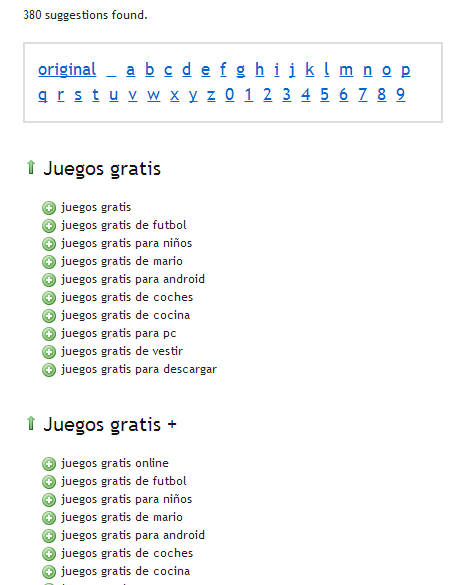 como encontrar keywords