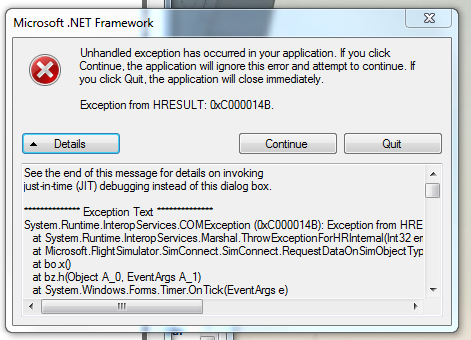 This error can occur if you try to copy your application to another windows machine without including