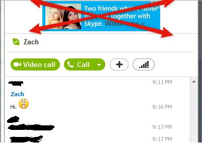 Rimuovere completamente la pubblicità da skype