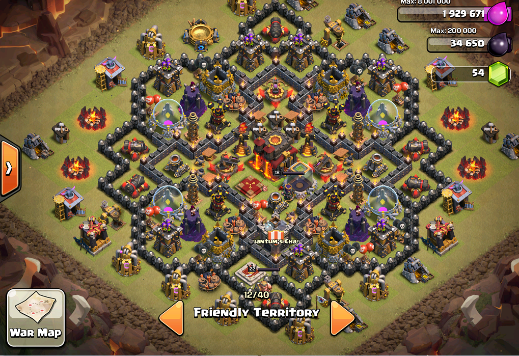 Th 10 maxed everything except walls and level 3 golems