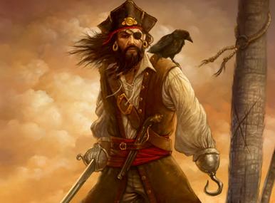 Los piratas y sus parches de ojos