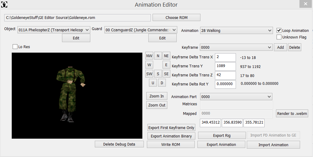 GE Animation editor