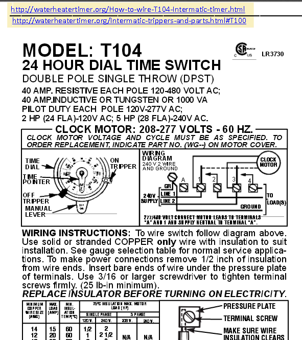 b17231365a47fc10ce2988be5fcdfd6b wiring a t 105 104 120 240 volt timer diy ommp pay it forward intermatic t104 wiring diagram at gsmportal.co