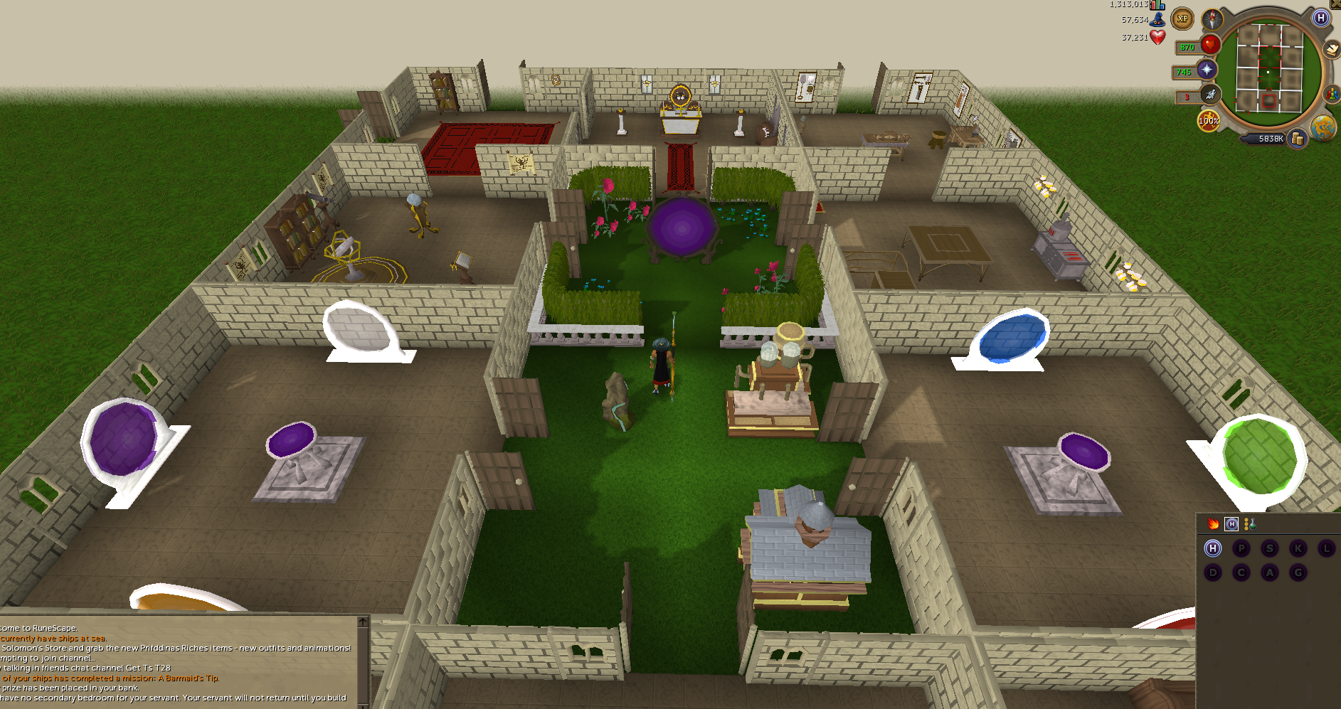 99 construction poh layout runescape for Best old school house