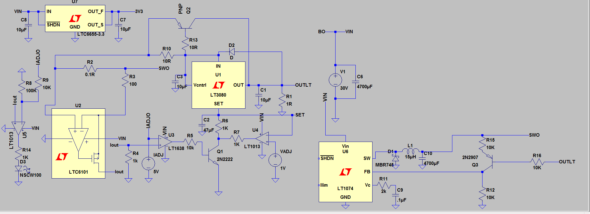 Pre Regulator Doesnt Work When Entering Current Limiting Page 1 Discrete Voltage A And Im Mod The Lt3080 Post Just Regulate To 3v Matter What I Set For
