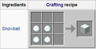 Как сделать блок снега