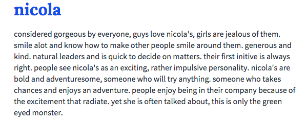 nicola name meaning urban dictionary