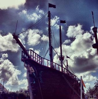 Cancun Pirate Boat