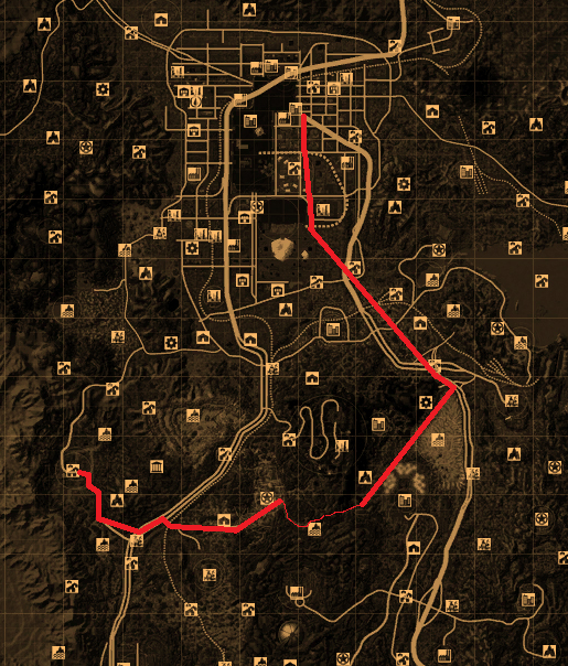 A much safer route to New Vegas Fallout