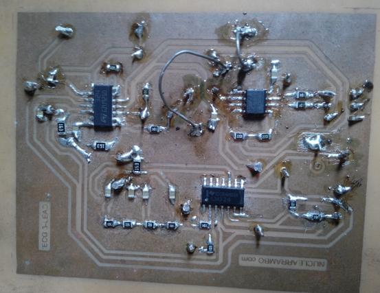ECG circuit PCB