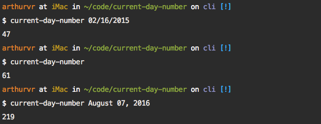 current day number cli image
