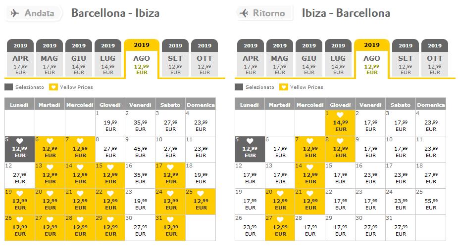 Offerte Voli Low cost Vuelling Barcellona ibiza