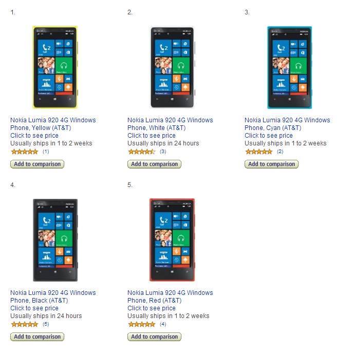 Lumia 920 Available for $49.99 on Amazon Wireless