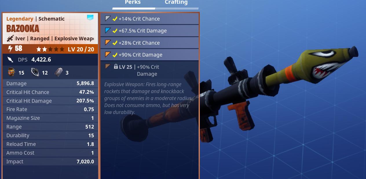 Legendary Sb Launcher Fortnite Legendary Bazooka Rolls Fortnite