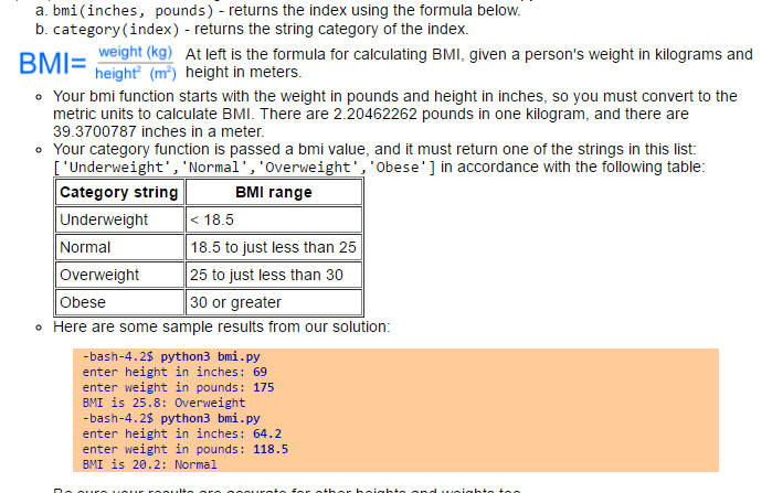 In Python Write A Function To Calculate A Person's... | Chegg.com