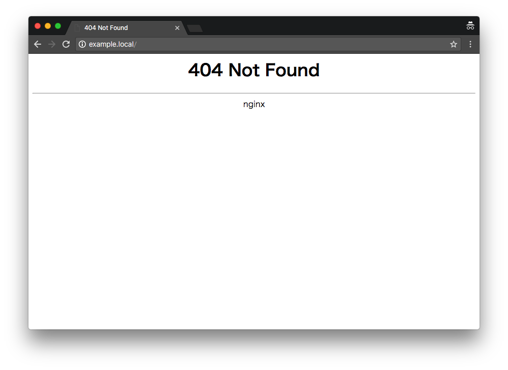 example.local 404 error