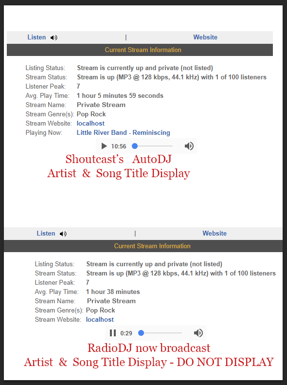 noob needs help: Artist and song title not displaying [SOLVED]