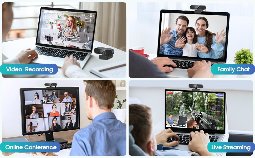 This usb webcam  is great for video conferencing, live streaming, video conference, online class