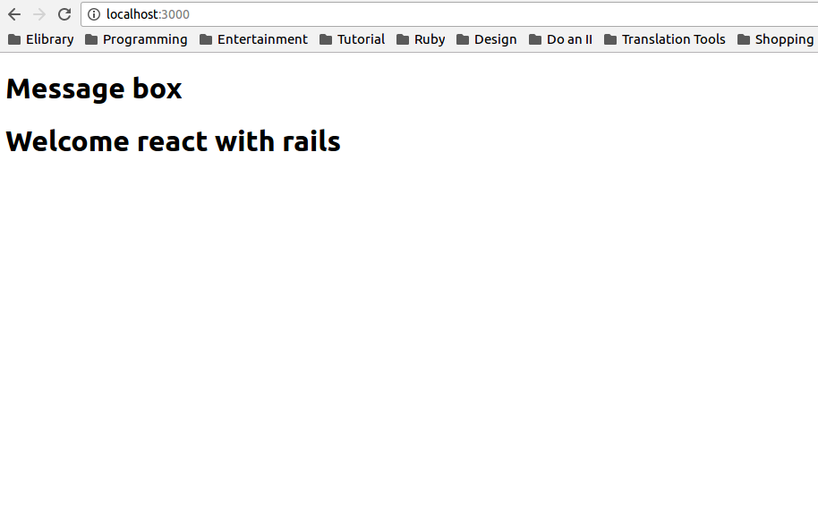 Welcom react with rails