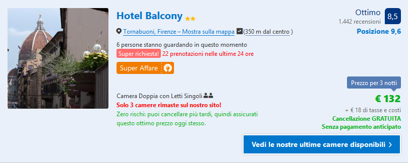 Hotel centro a Firenze in offerta