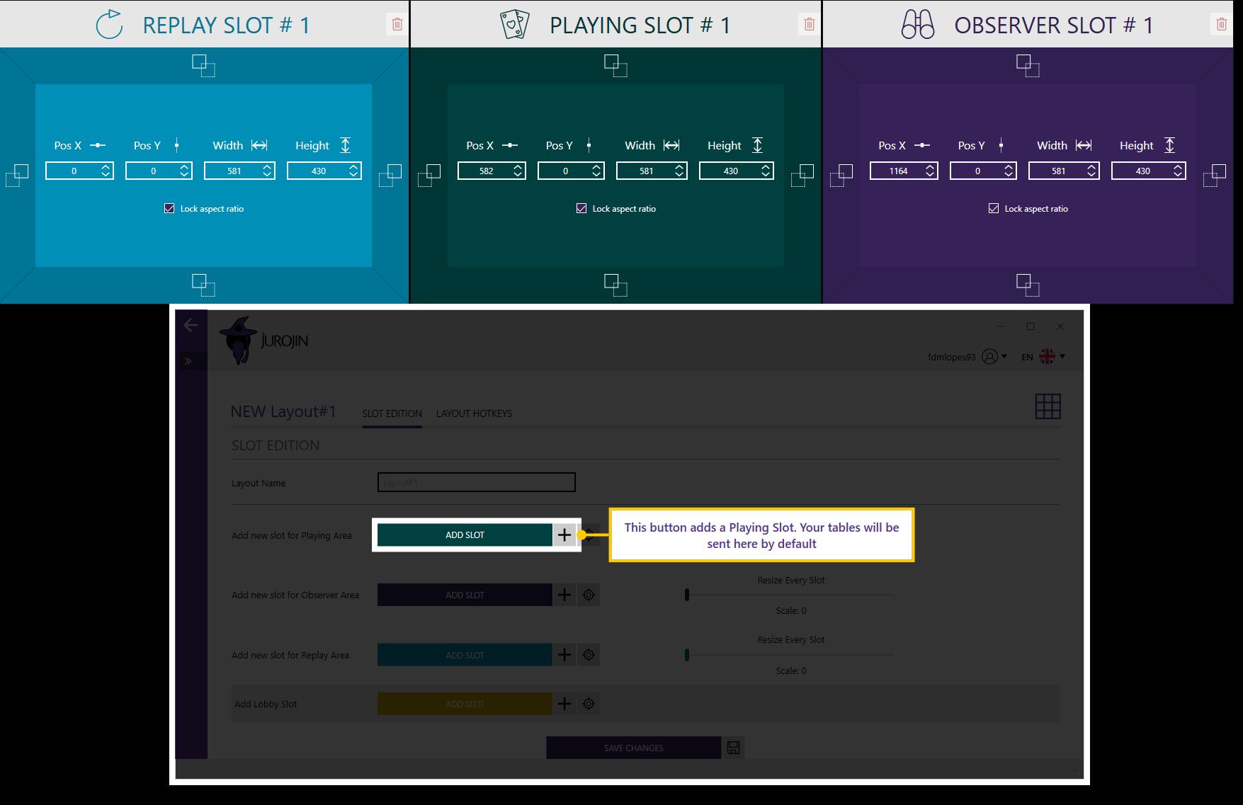 jurojing setting up layout