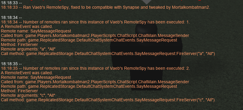 RELEASE] Vaeb's RemoteSpy for Synapse, tweaked by