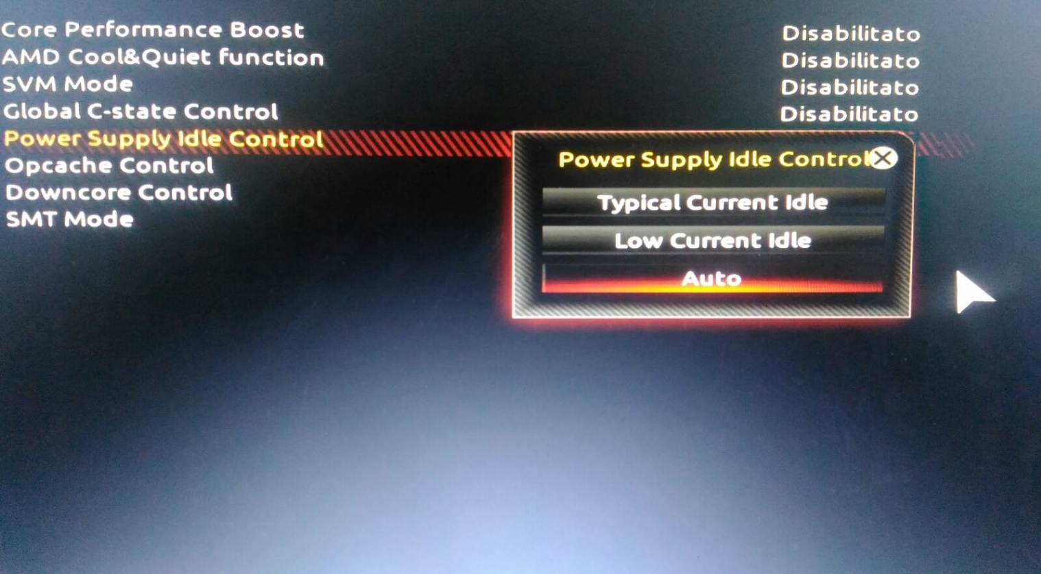 Power Supply Idle Control in motherboard GA-AB350 GAMING 3
