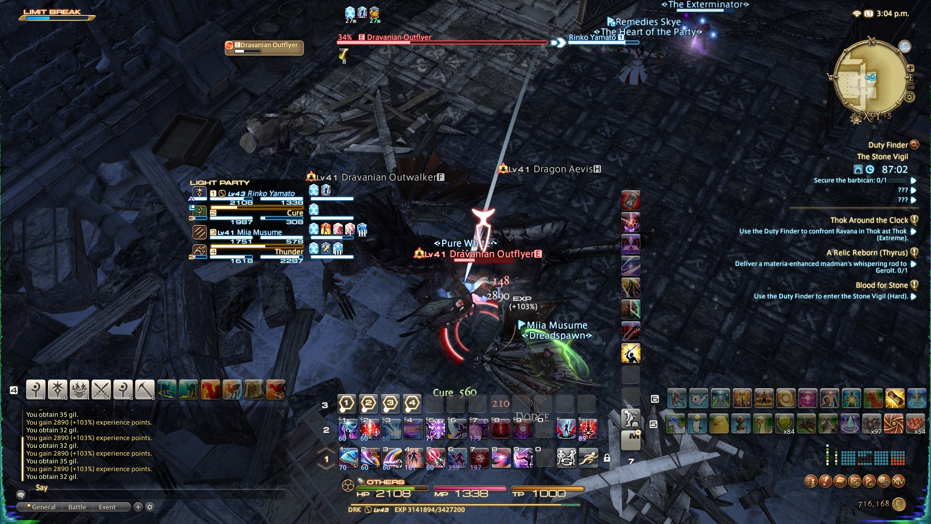 Weird Colour Things on the side of the screen? : ffxiv
