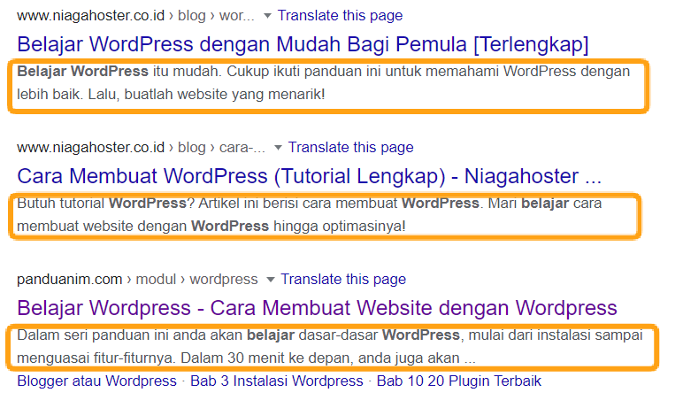 meta description on-page SEO