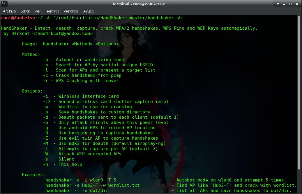 HandShaker - Detect, capture, crack WPA/2 handshakes, WEP