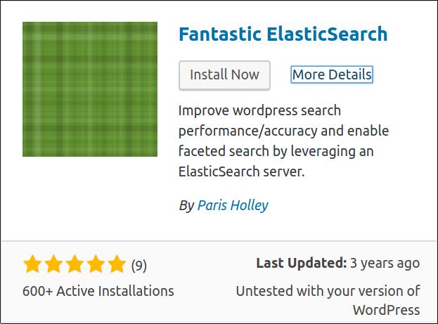 Fantastic Elasticsearch Installed
