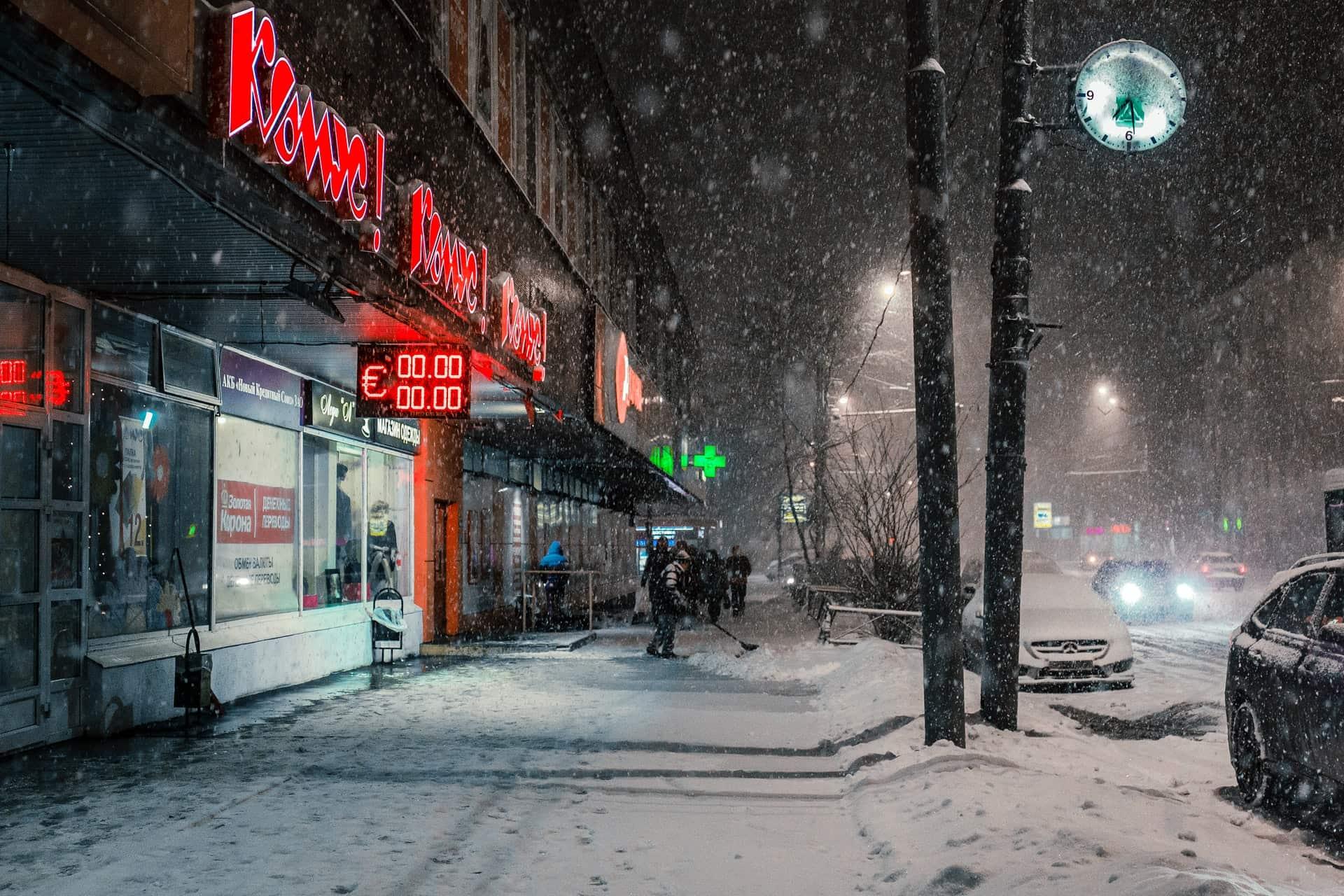 winter in Russia store