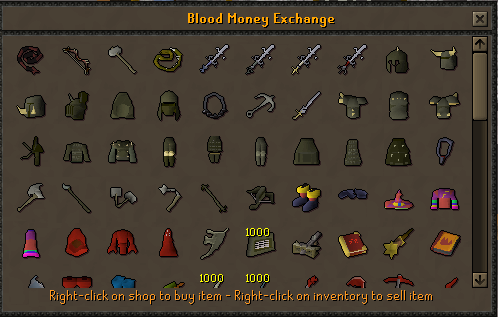 Blood Money Shop