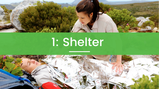 Space Blanket and Shelter for Emergencies in Nature