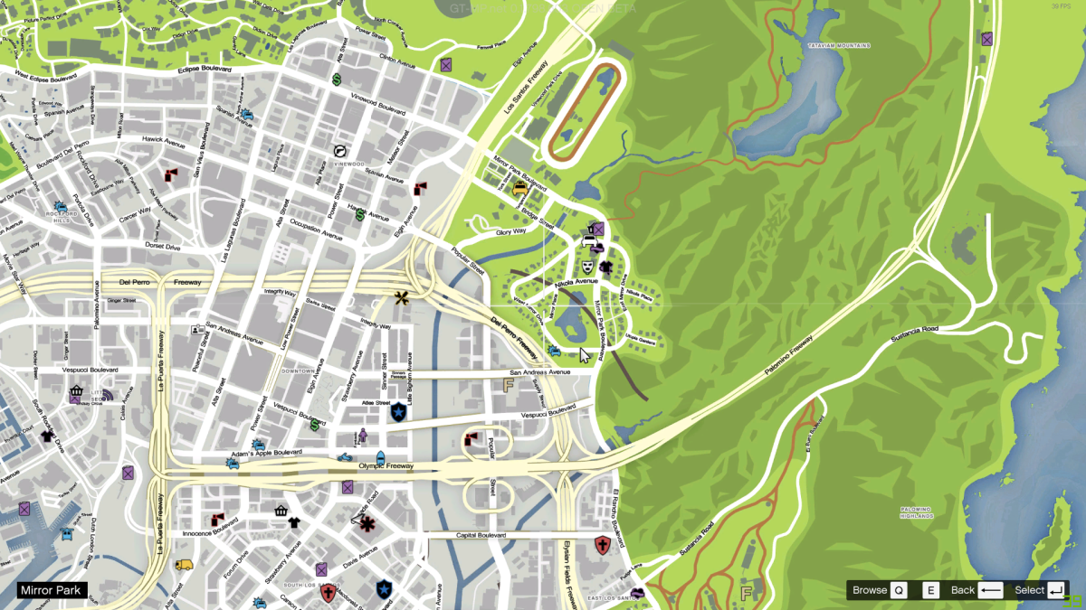 Map With Roads Names Archive Gta World Forums Gta V