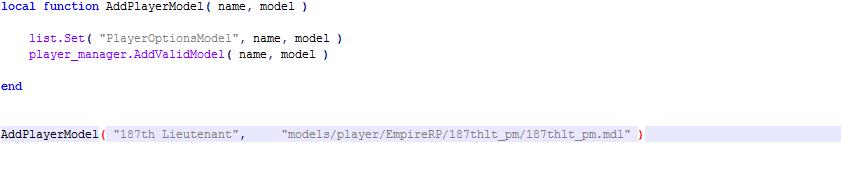 how to make a gmod playermodel
