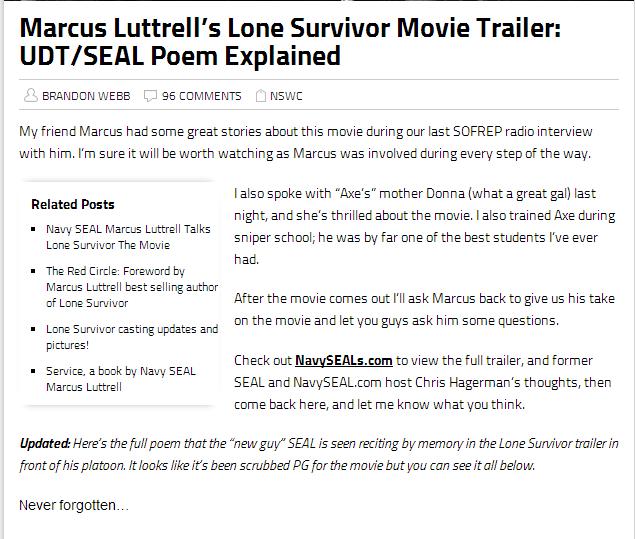 Lone Survivor Movie Quotes. QuotesGram