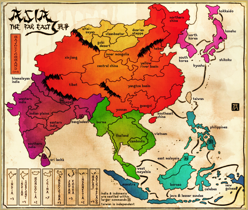 Map Of Asia Far East.New Asia Map The Far East Map