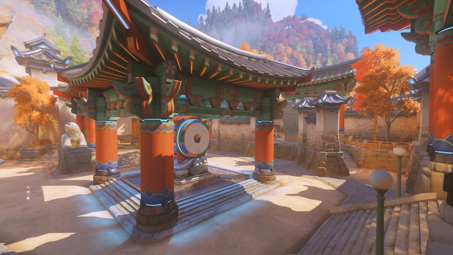 Una de las zonas del nuevo mapa de Overwatch: Busan