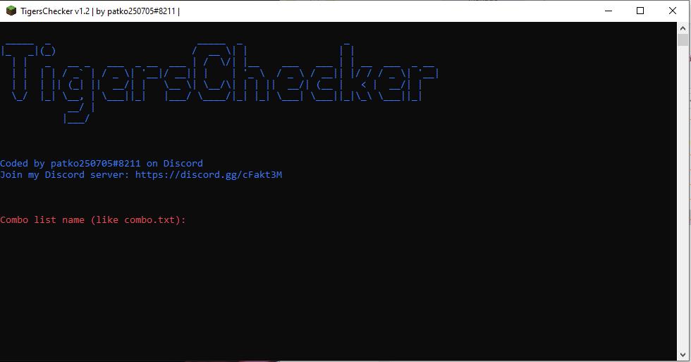 TigersChecker v1.2   Minecraft Account Checker