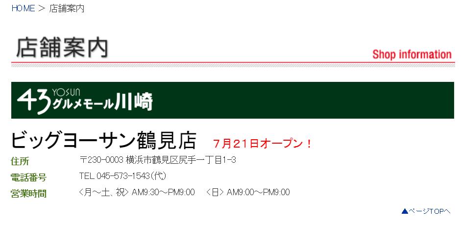 ビッグヨーサン鶴見店