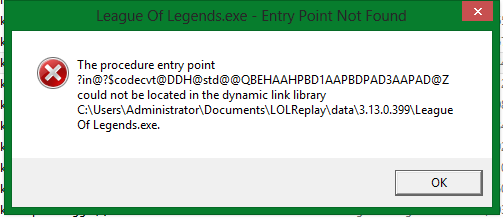 how to fix missing file in league of legends oce